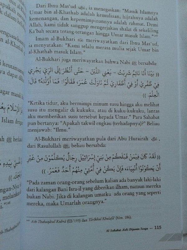 Buku 10 Sahabat Nabi Dijamin Surga isi