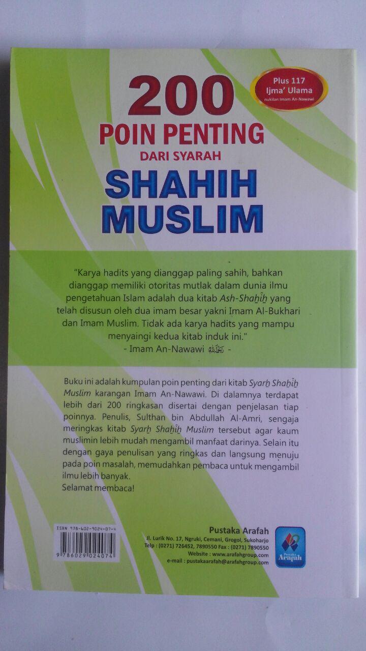 Buku 200 Poin Penting Dari Syarah Shahih Muslim cover