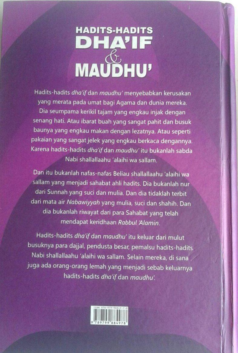 Buku Hadits-Hadits Dhaif dan Maudhu (2 Jilid) cover 2
