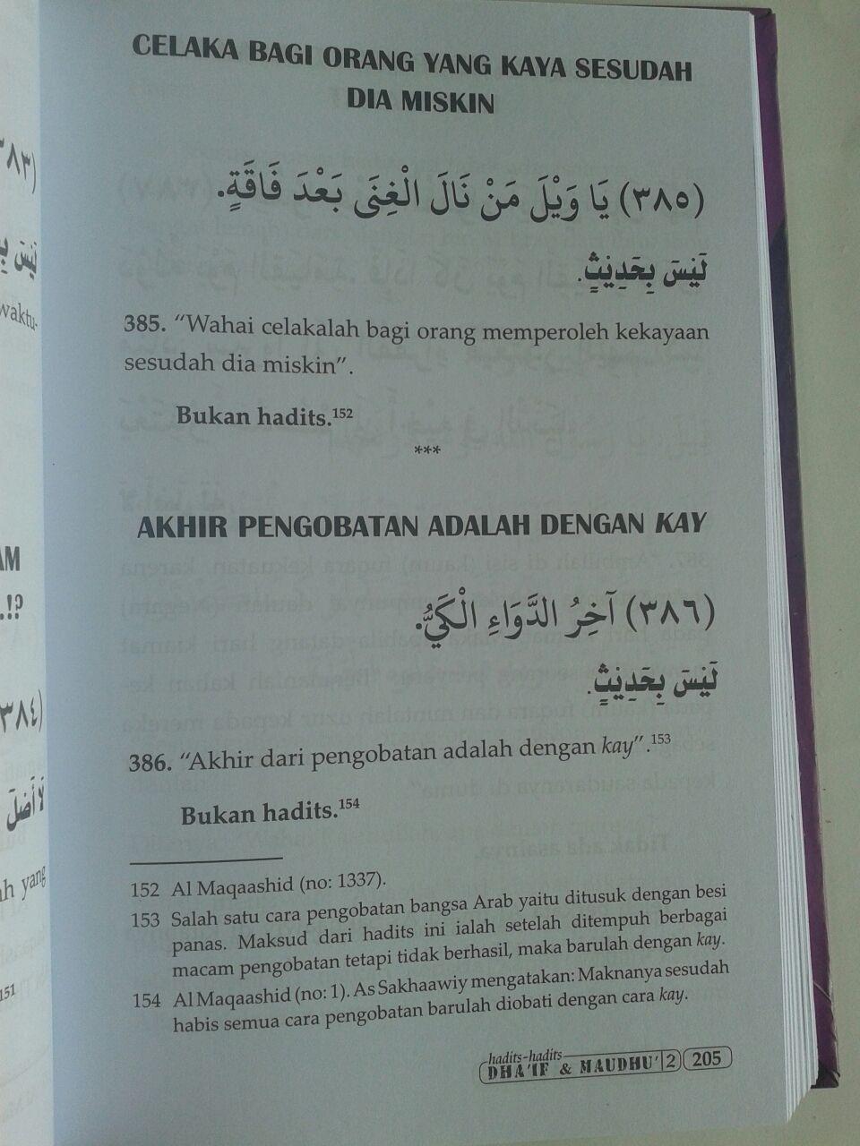 Buku Hadits-Hadits Dhaif dan Maudhu (2 Jilid) isi