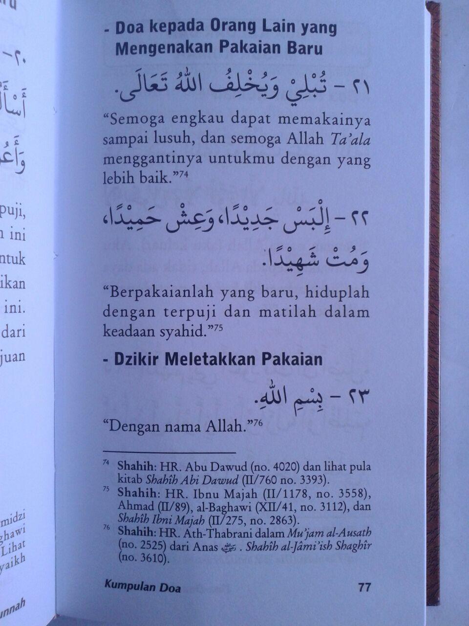 Buku Kumpulan Doa Dari Al-Quran dan As-Sunnah Yang Shahih isi 3