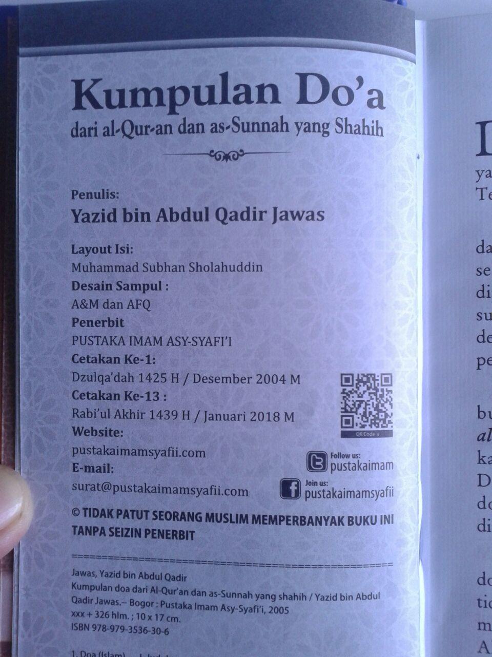 Buku Kumpulan Doa Dari Al-Quran dan As-Sunnah Yang Shahih isi