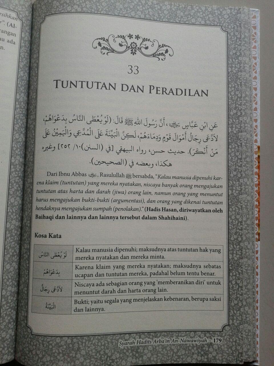 Buku Syarah Hadits Arba'in An-Nawawiyah isi 2