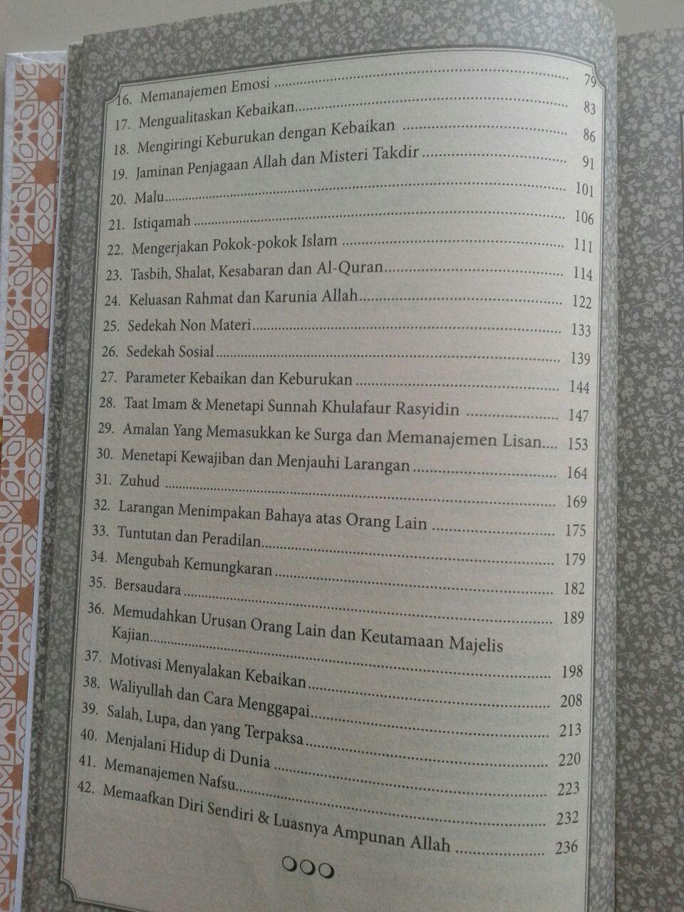 Buku Syarah Hadits Arba'in An-Nawawiyah isi