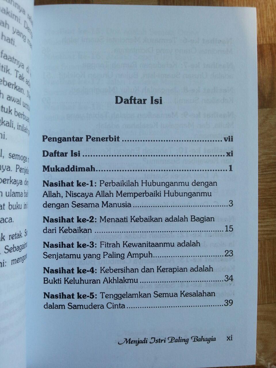 Buku Menjadi Istri Paling Bahagia isi 2