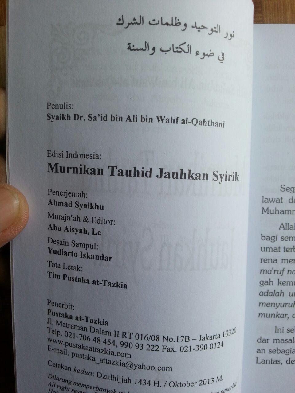 Buku Murnikan Tauhid Jauhkan Syirik isi 2