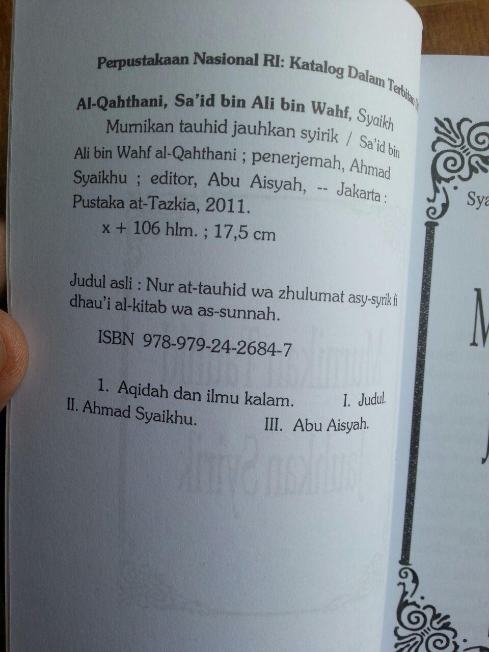 Buku Murnikan Tauhid Jauhkan Syirik isi 3