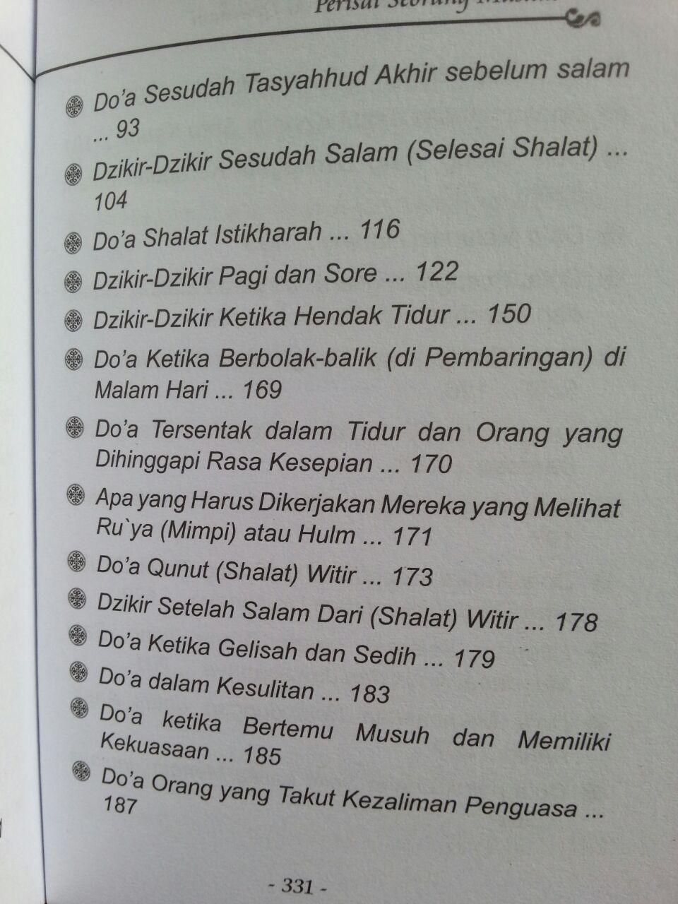 Buku Saku Perisai Seorang Muslim isi