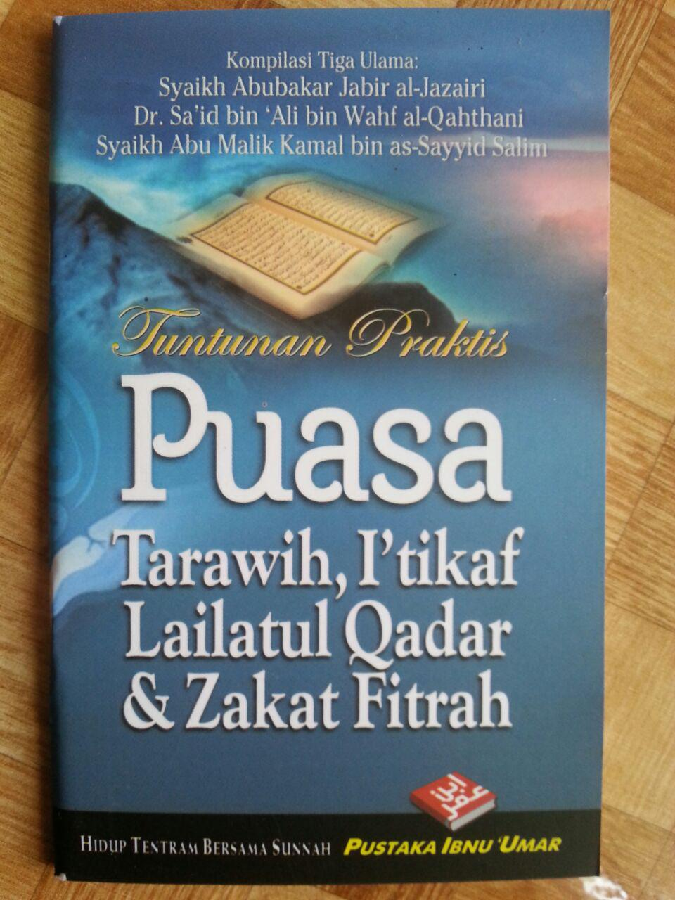 Buku Saku Tuntunan Praktis Puasa Tarawih I'tikaf Lailatul Qadar dan Zakat Fitrah cover 2