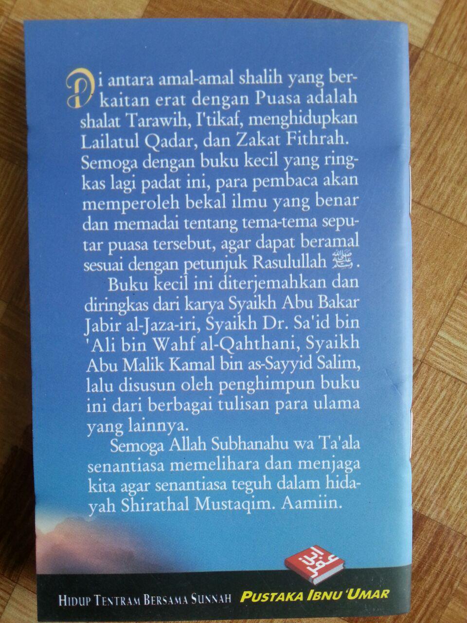 Buku Saku Tuntunan Praktis Puasa Tarawih I'tikaf Lailatul Qadar dan Zakat Fitrah cover