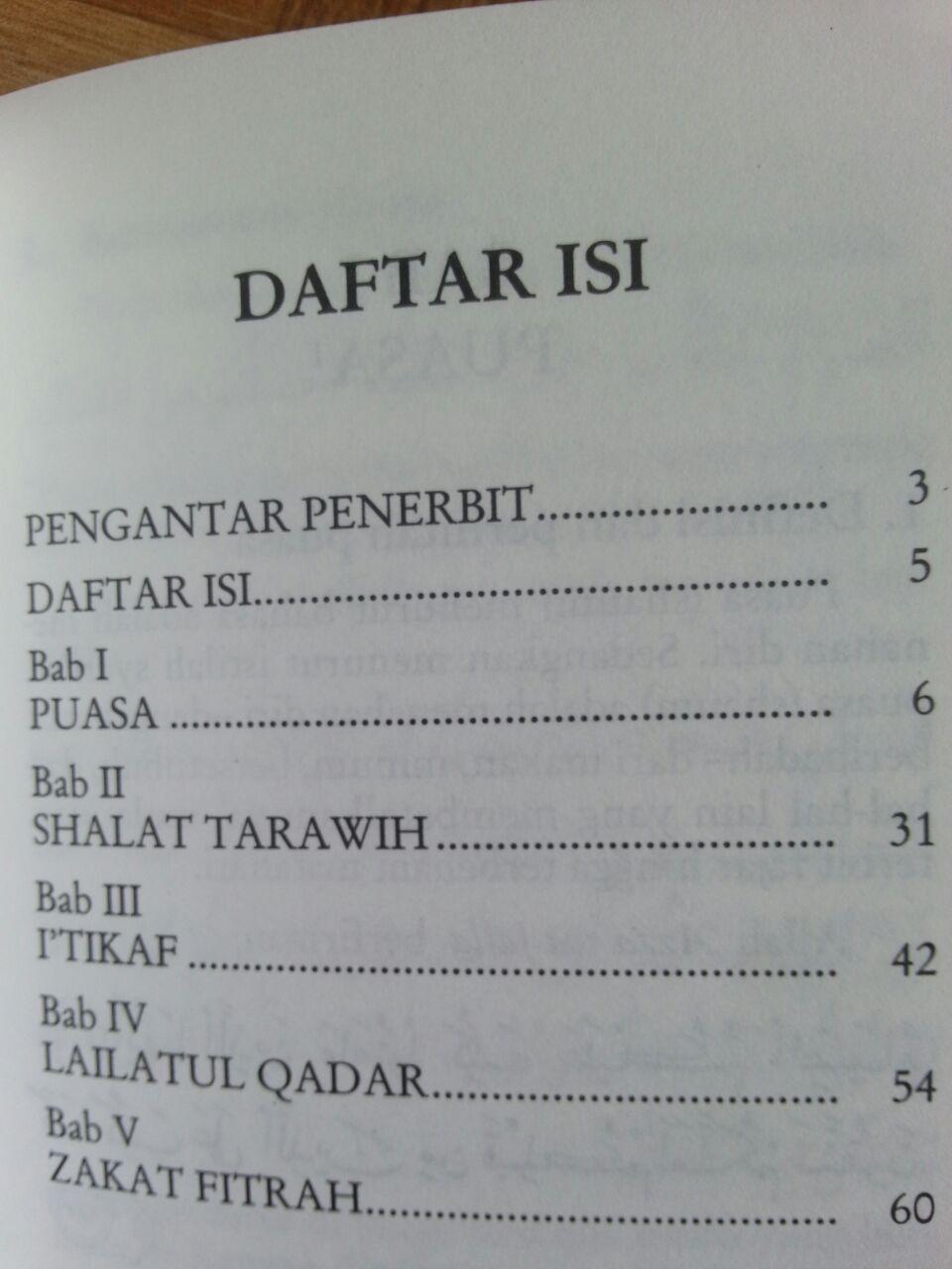 Buku Saku Tuntunan Praktis Puasa Tarawih I'tikaf Lailatul Qadar dan Zakat Fitrah isi 2