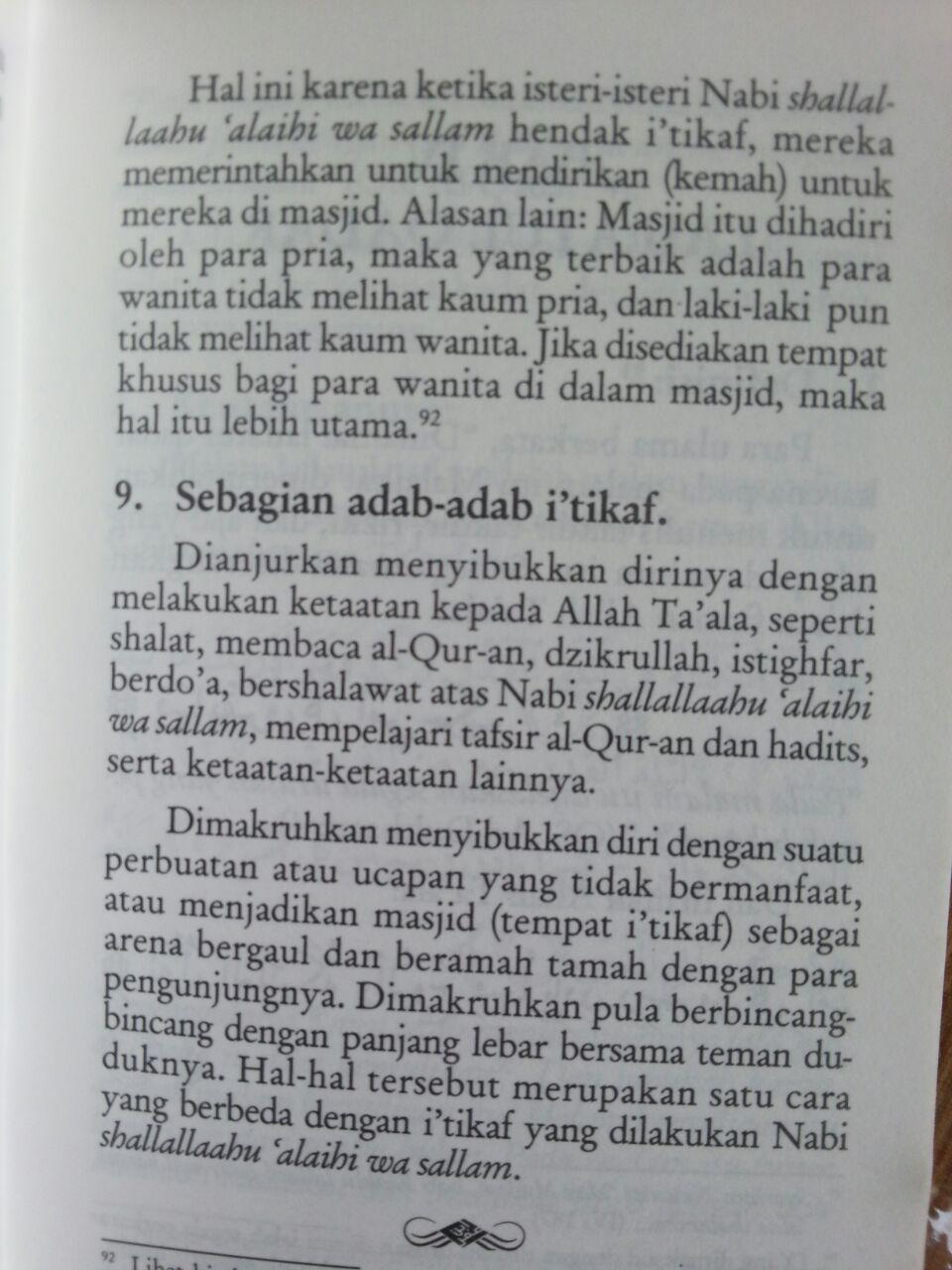 Buku Saku Tuntunan Praktis Puasa Tarawih I'tikaf Lailatul Qadar dan Zakat Fitrah isi 3