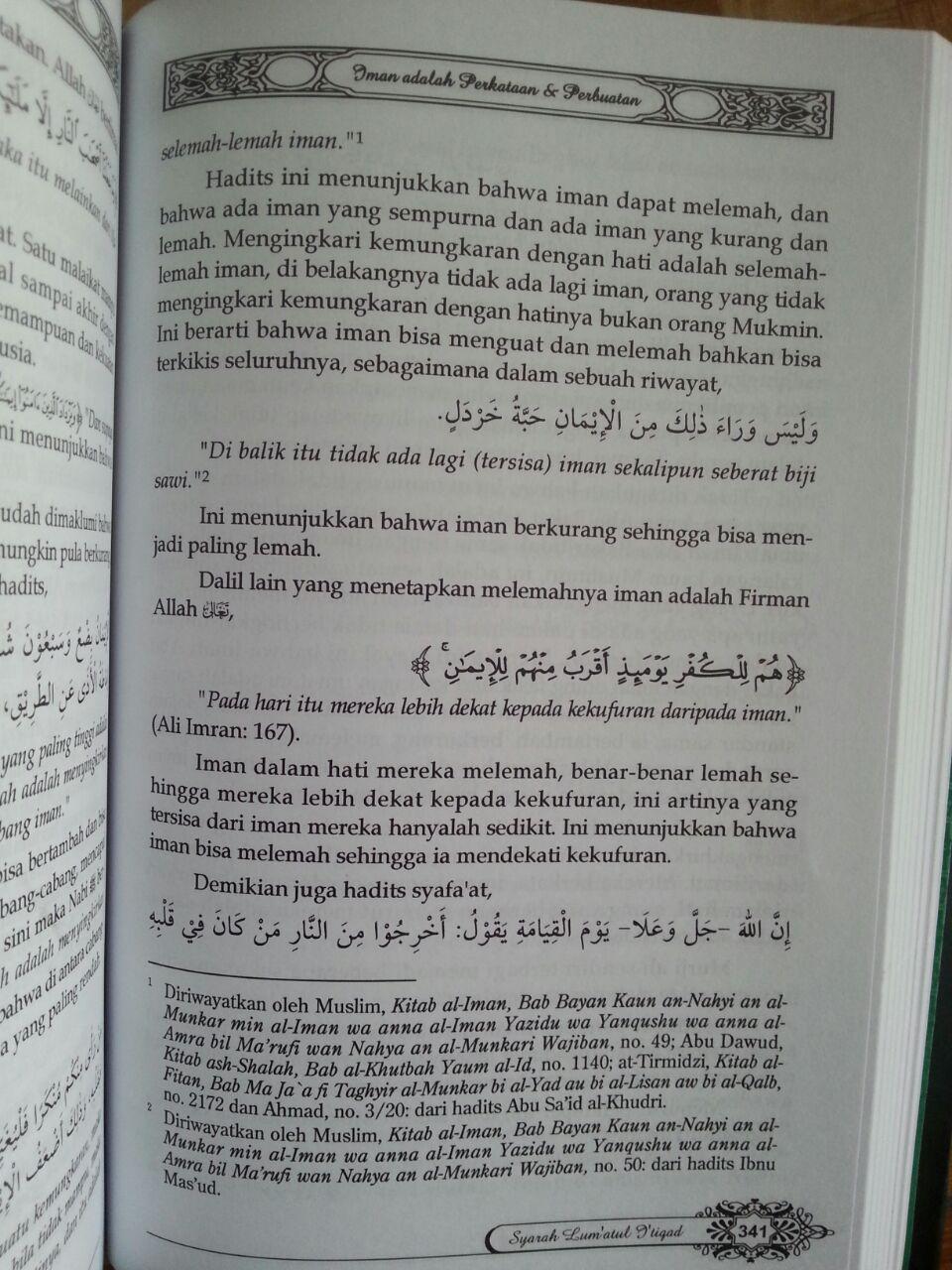 Buku Syarah Lum'atul I'tiqad isi 4
