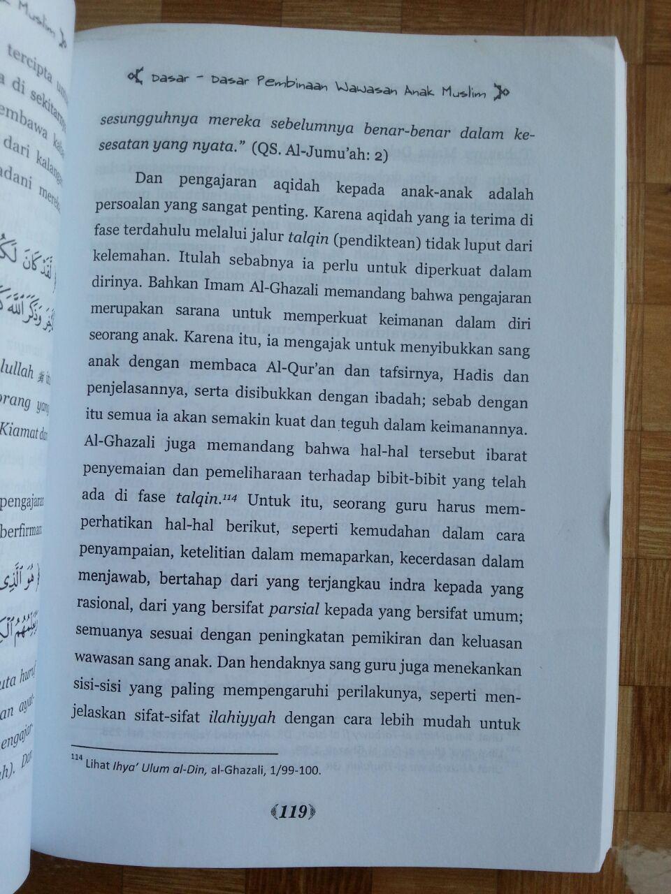 Buku Dasar-Dasar Pembinaan Wawasan Anak Muslim isi 4