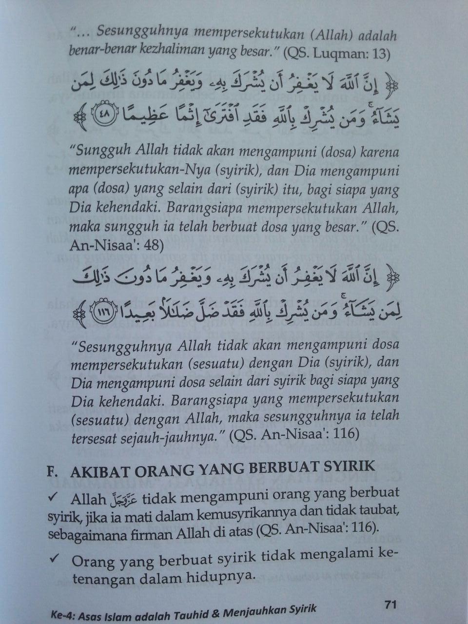 Buku Prinsip Dasar Islam Menurut Al-Qur'an Dan As-Sunnah isi 4