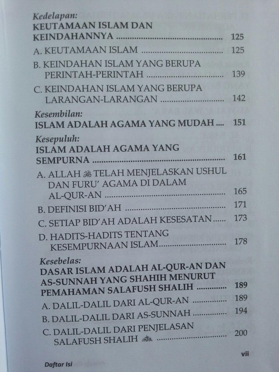 Buku Prinsip Dasar Islam Menurut Al-Qur'an Dan As-Sunnah isi