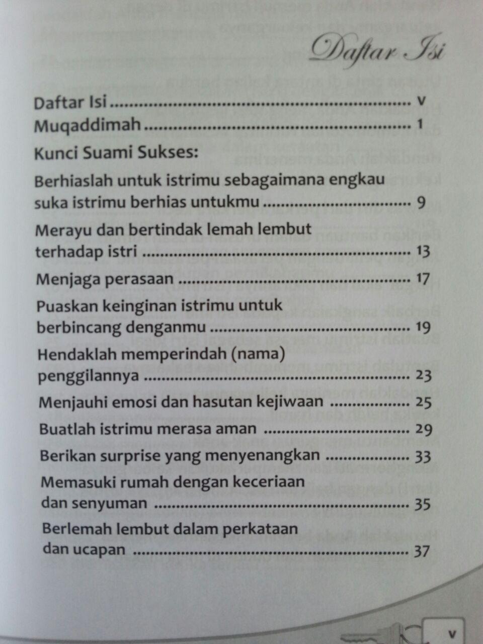 Buku Suami Sukses Dalam Rumah Tangga Kiat Jitu Menjadi Suami Idaman isi 2