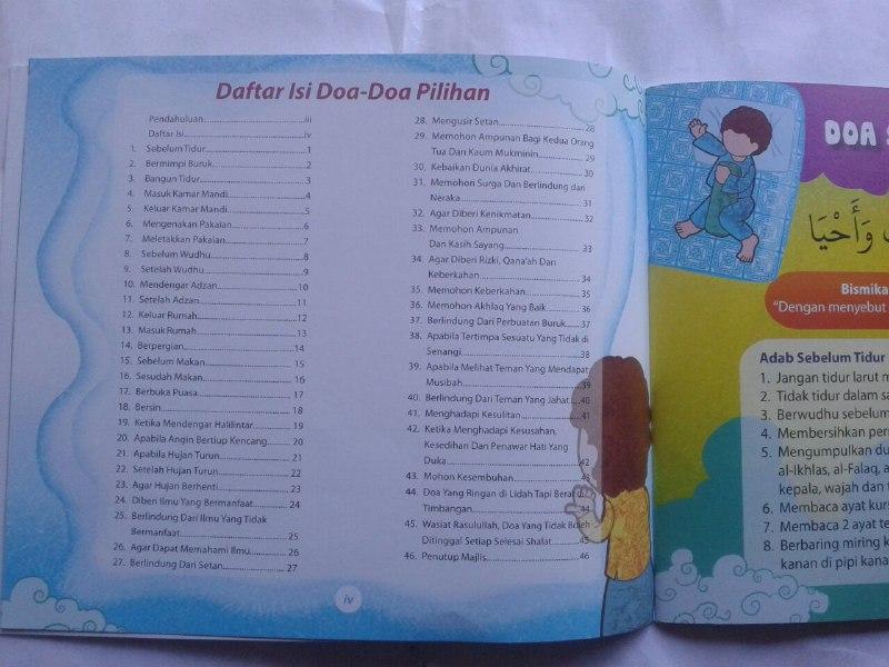 Buku Anak Doa-doa Pilihan dan Adab isi 3