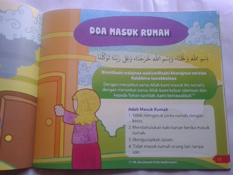 Buku Anak Doa-doa Pilihan dan Adab isi