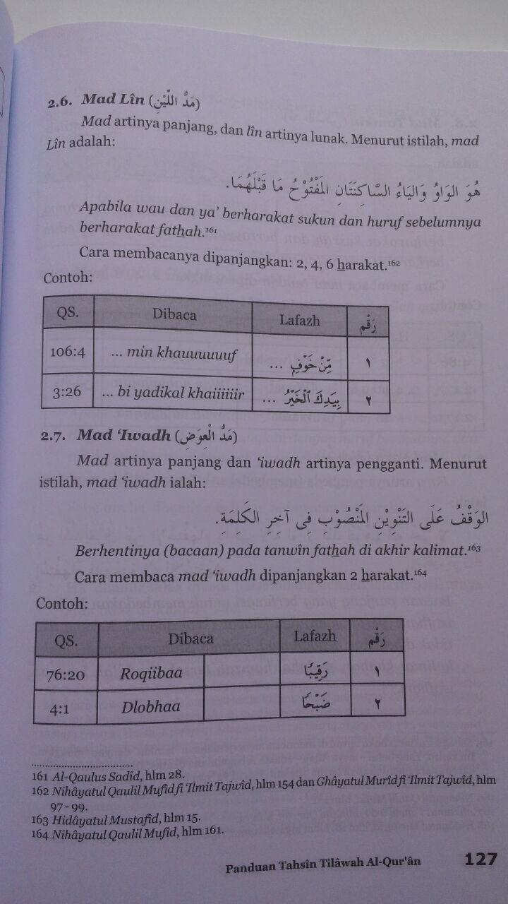 Buku Panduan Tahsin Tilawah Al-Qur'an Dan Ilmu Tajwid isi 2