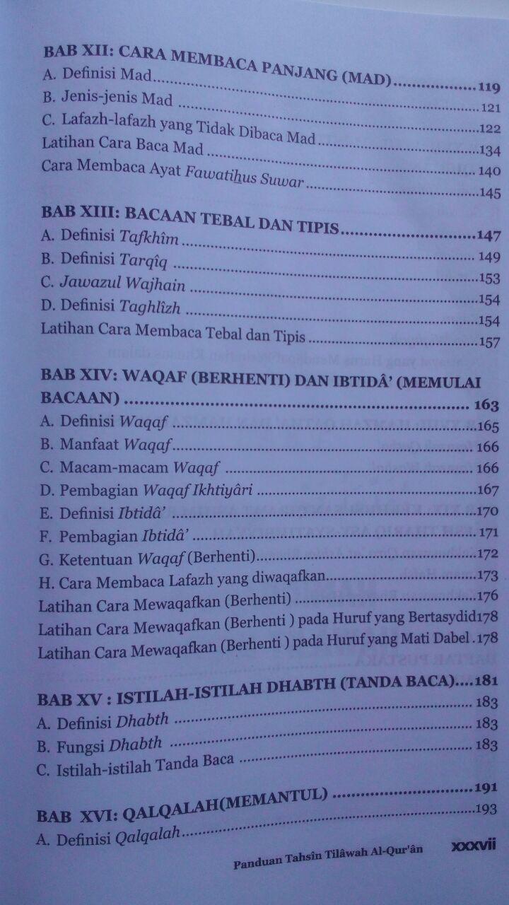 Buku Panduan Tahsin Tilawah Al-Qur'an Dan Ilmu Tajwid isi 4