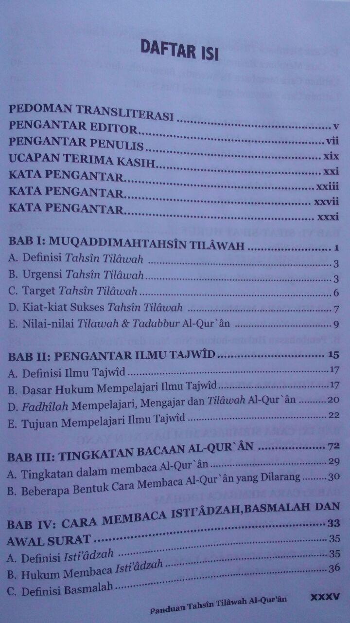 Buku Panduan Tahsin Tilawah Al-Qur'an Dan Ilmu Tajwid isi 5