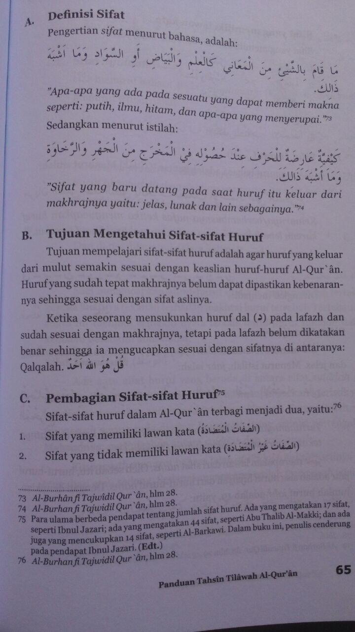 Buku Panduan Tahsin Tilawah Al-Qur'an Dan Ilmu Tajwid isi