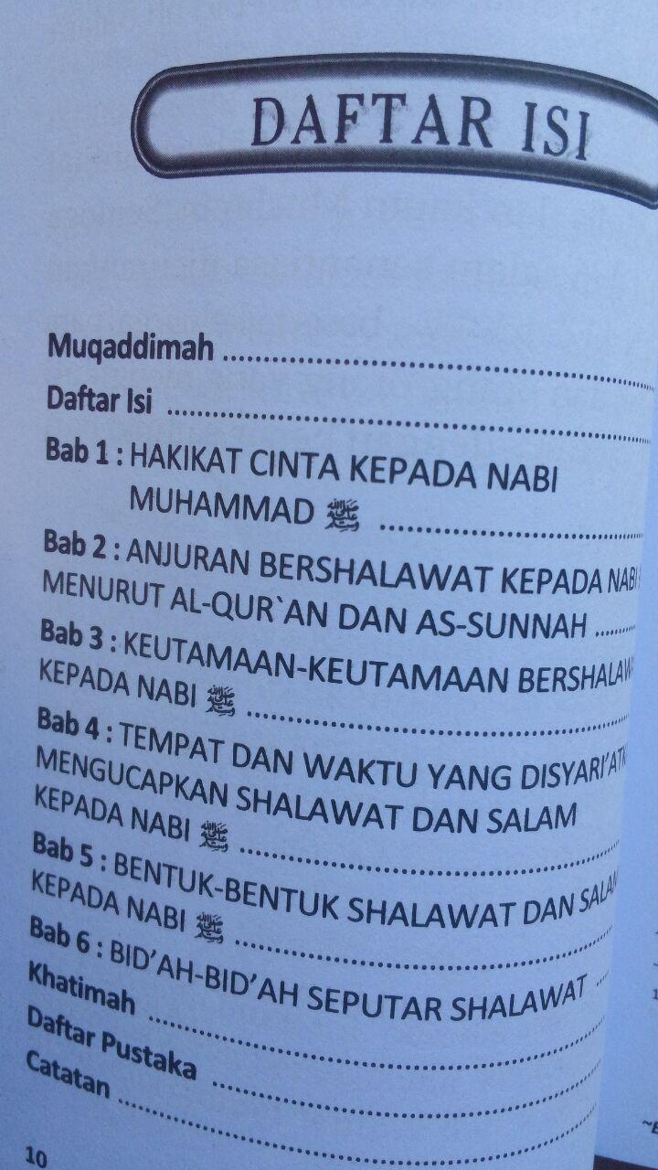 Buku Saku Sifat Shalawat Nabi isi