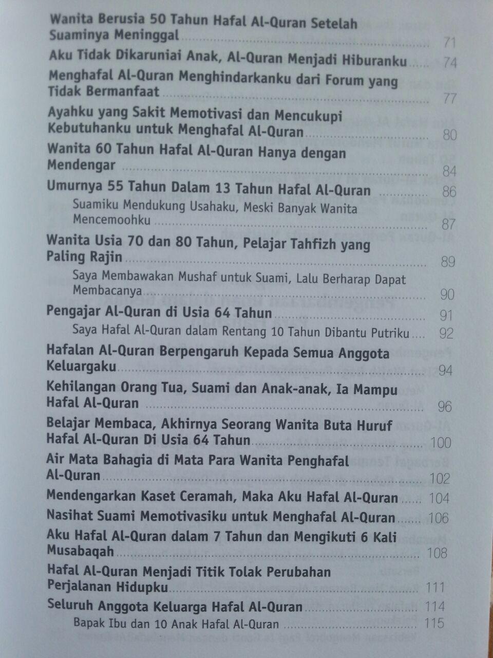 Buku Kisah Inspiratif Penghafal Al-Quran isi