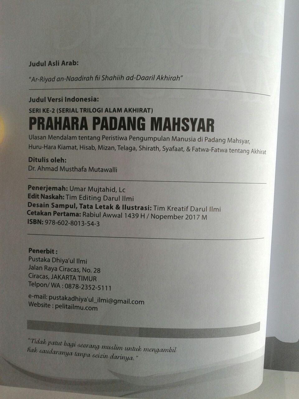 Buku Prahara Padang Mahsyar (Seri 2 Trilogi Alam Akhirat) isi 3