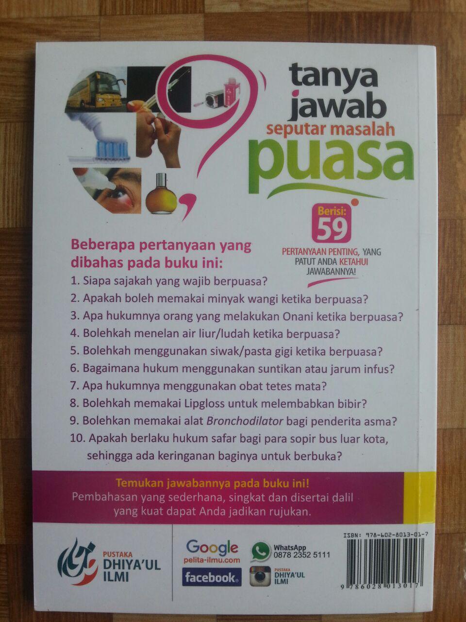 Buku Tanya Jawab Seputar Masalah Puasa cover