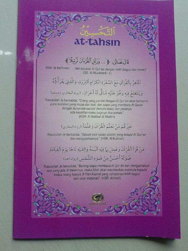 Kitab At-Tahsin Belajar Baca Al-Quran Rasm Utsmani (6 Jilid) cover 3