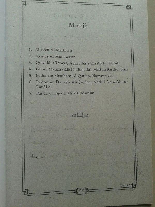 Kitab At-Tahsin Belajar Baca Al-Quran Rasm Utsmani (6 Jilid) isi 7