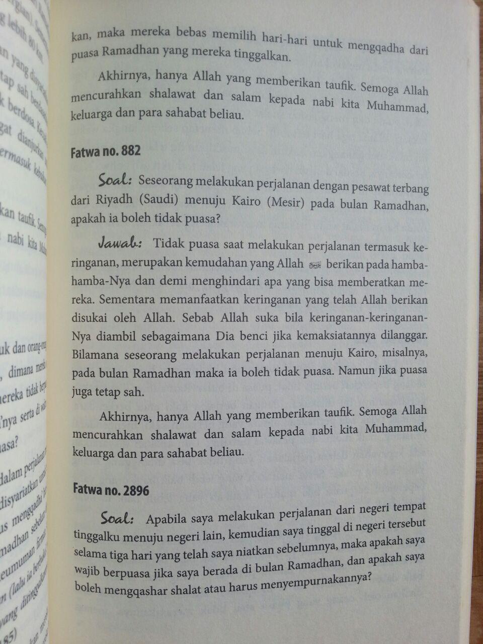 Buku Fatwa-Fatwa Tentang Puasa isi 3