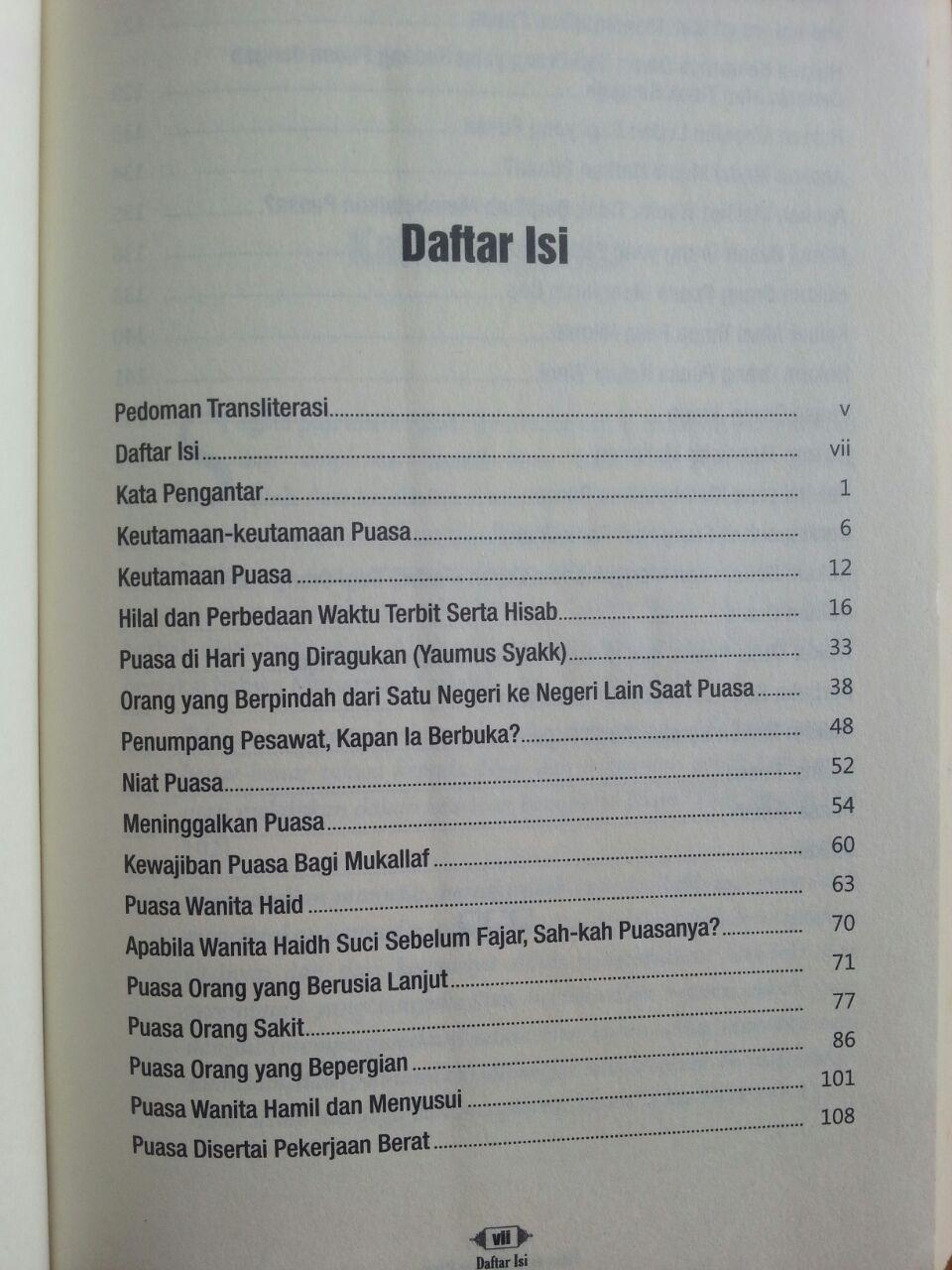 Buku Fatwa-Fatwa Tentang Puasa isi