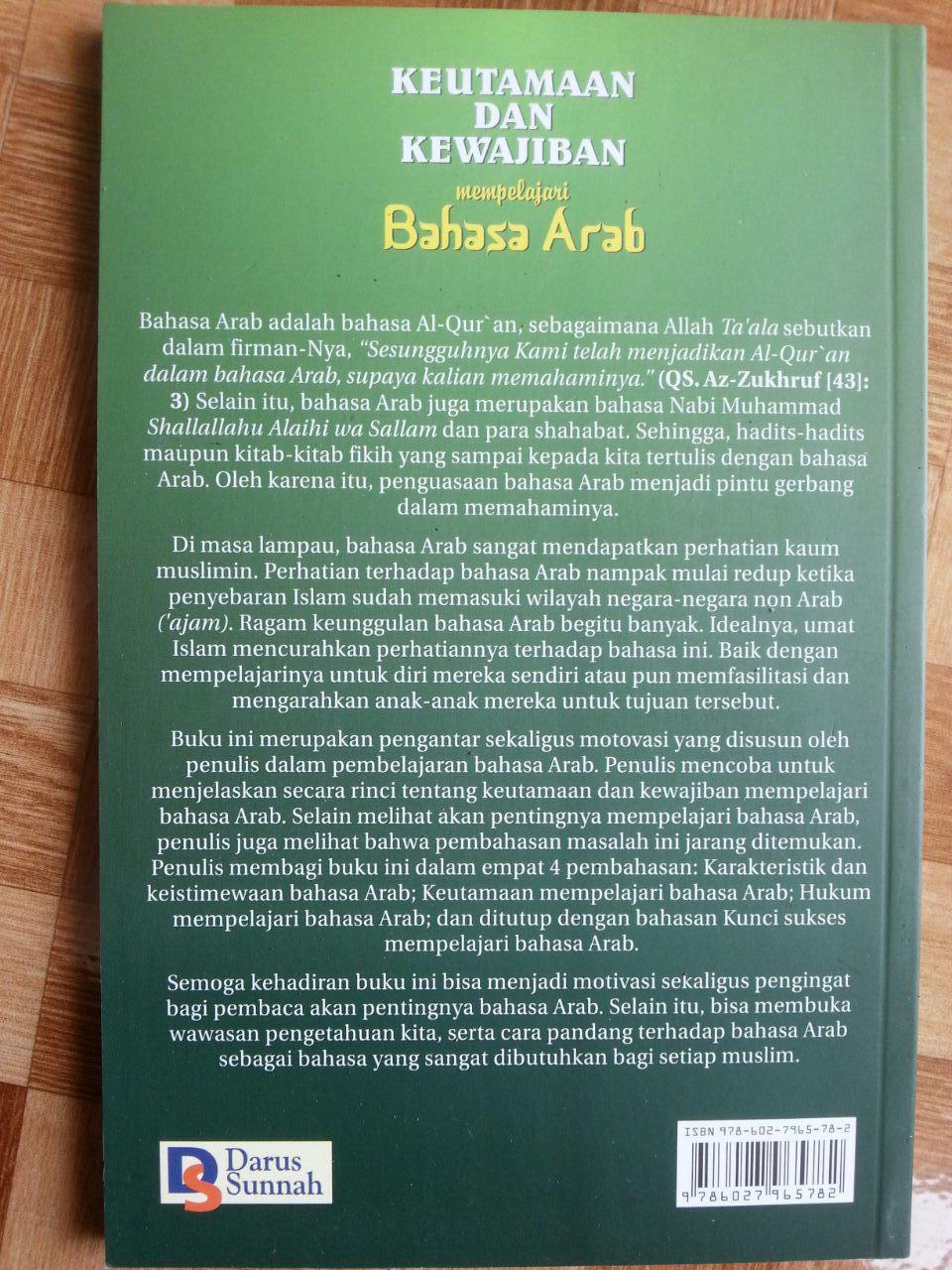 Buku Keutamaan dan Kewajiban Mempelajari Bahasa Arab cover