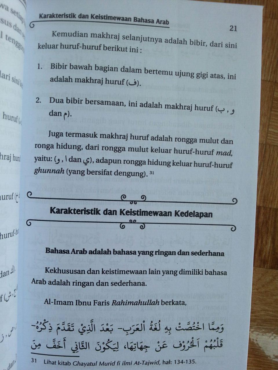 Buku Keutamaan dan Kewajiban Mempelajari Bahasa Arab isi 2