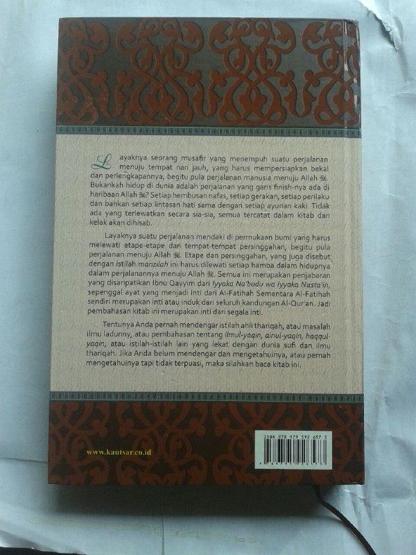 Buku Madarijus Salikin Pendakian Menuju Allah cover 2