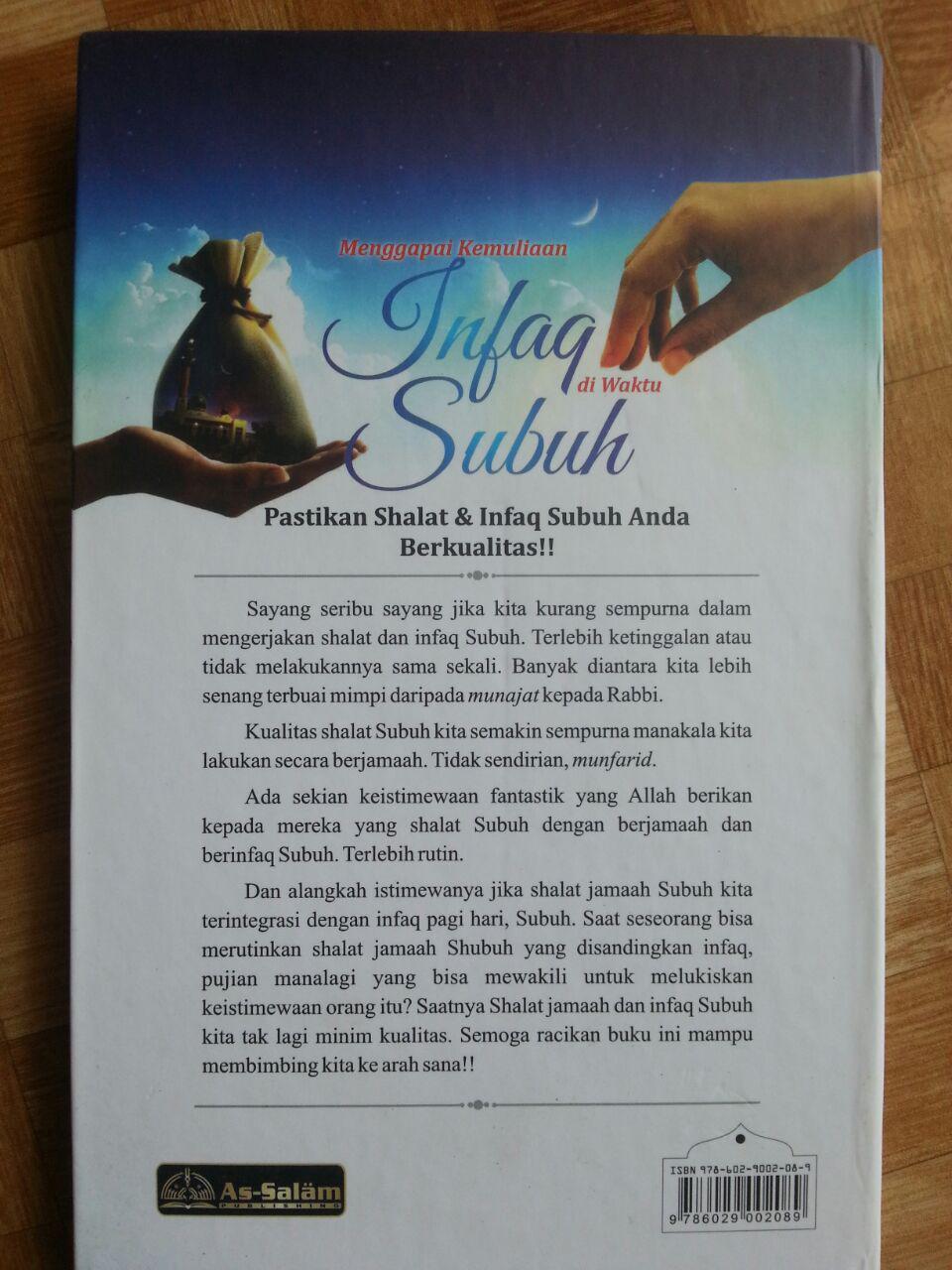 Buku Menggapai Kemuliaan Infak di Waktu Subuh cover