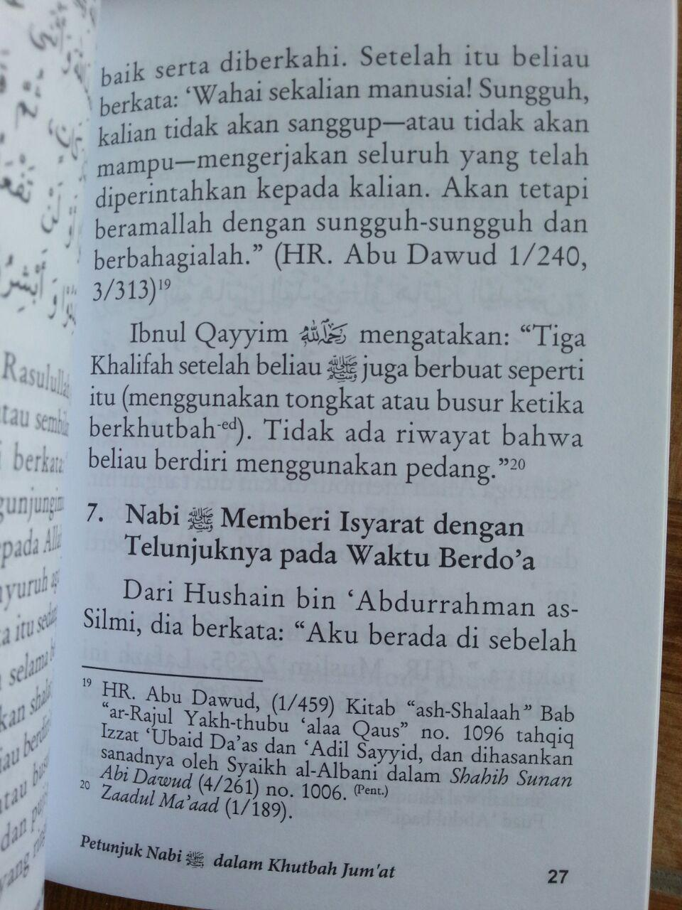 Buku Petunjuk Nabi Dalam Khutbah Jumat isi 3