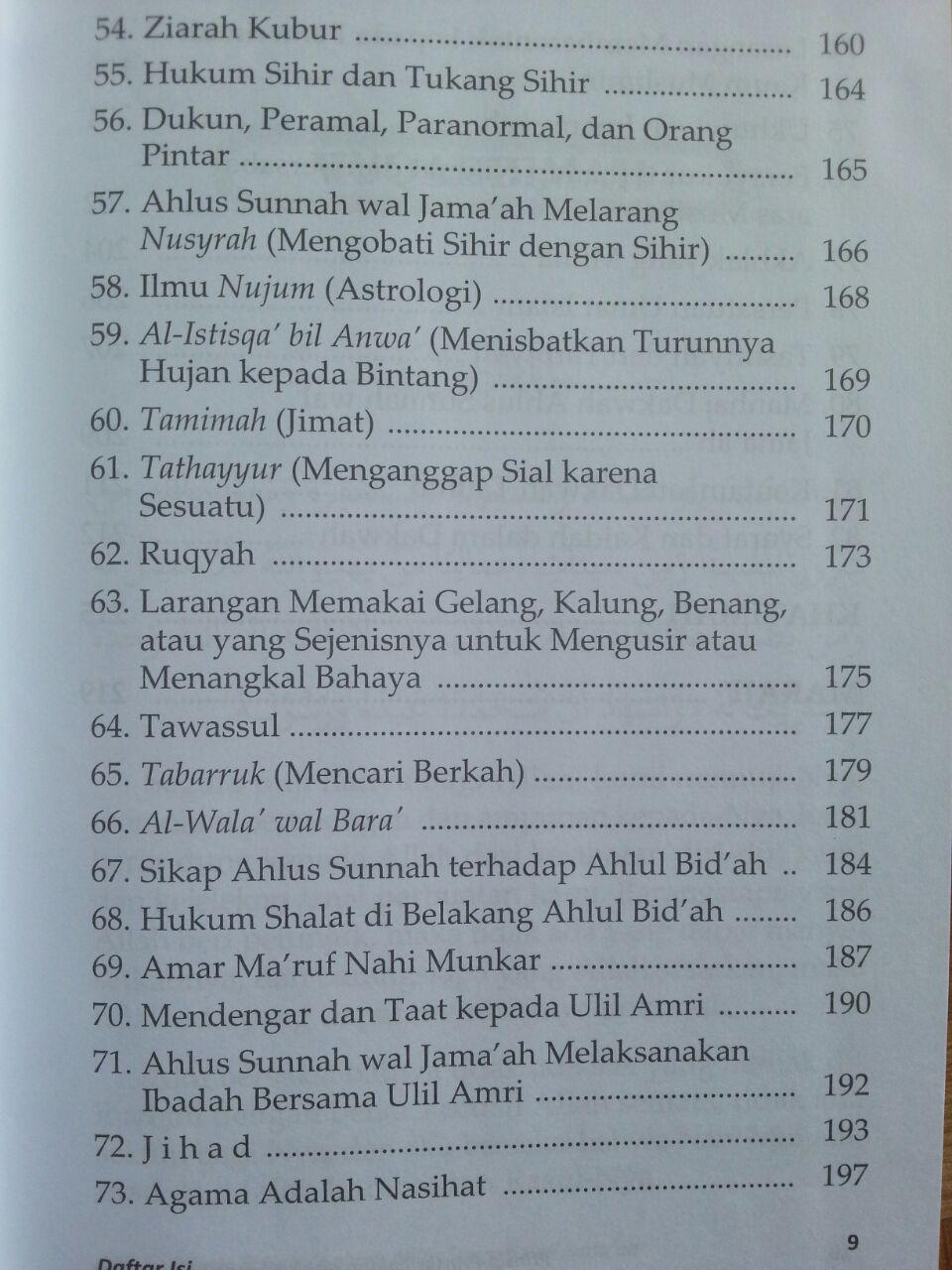 Buku Prinsip-Prinsip Aqidah Ahlus Sunnah Wal Jamaah isi