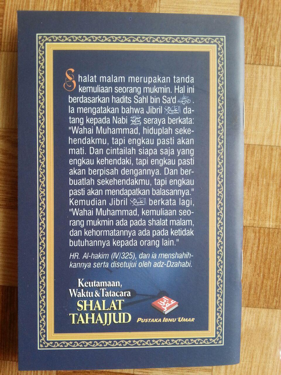 Buku Saku Keutamaan Waktu dan Tata Cara Shalat Tahajjud cover