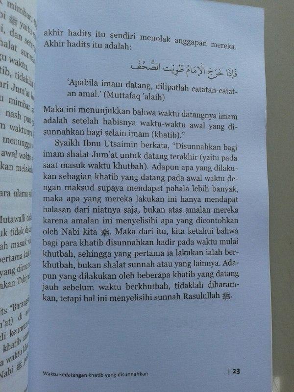Buku Khutbah Jumat Sesuai Syariat isi