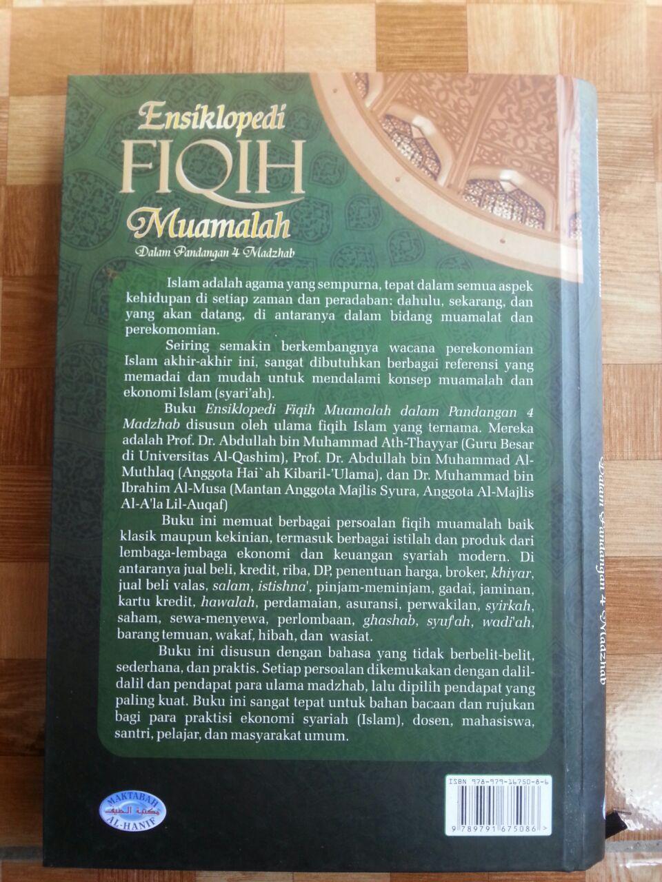 Buku Ensiklopedi Fiqih Muamalah Dalam Pandangan 4 Madzhab cover