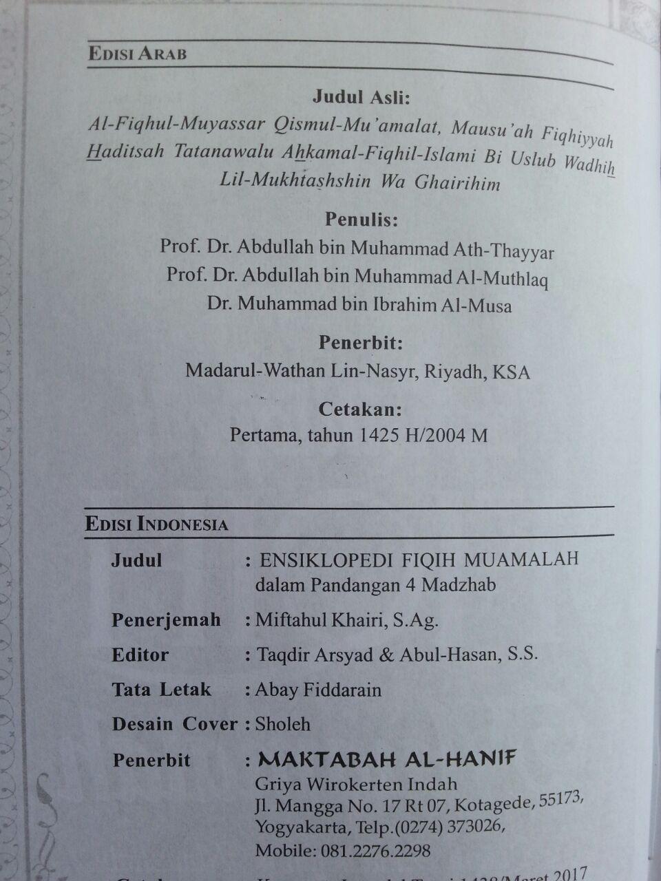 Buku Ensiklopedi Fiqih Muamalah Dalam Pandangan 4 Madzhab isi 2