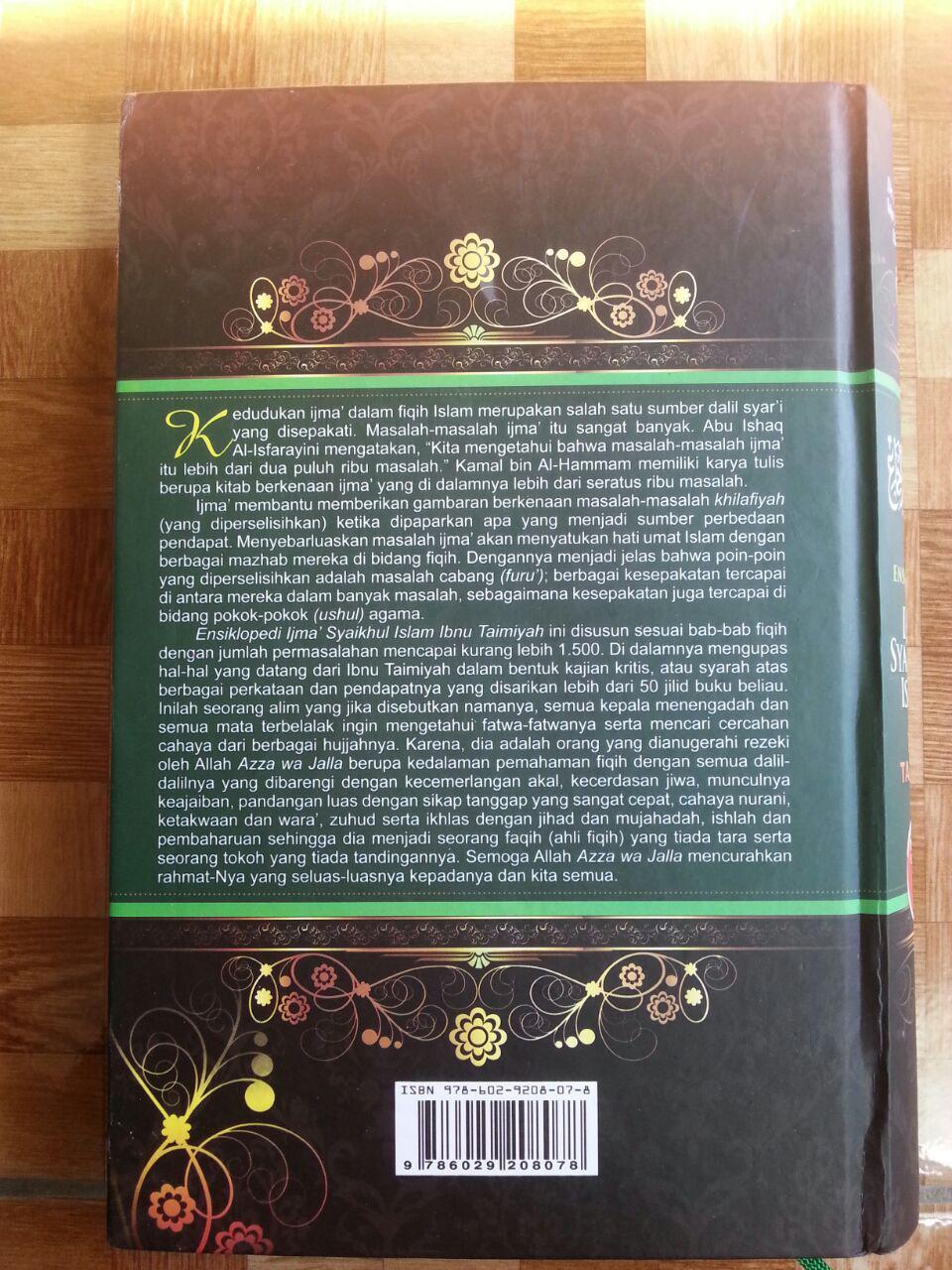 Buku Ensiklopedi Ijma Syaikhul Islam Ibnu Taimiyah cover