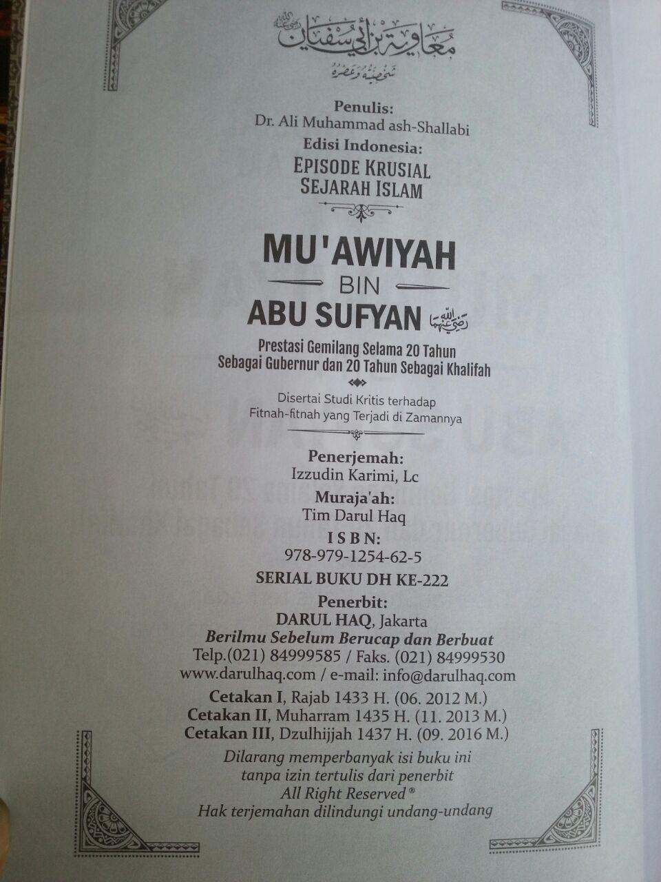 Buku Muawiyah Bin Abu Sufyan isi 2