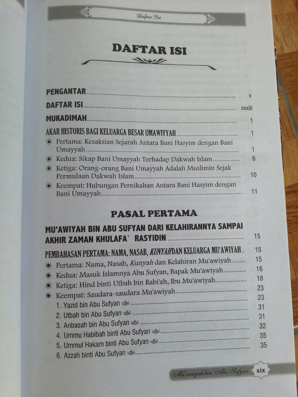 Buku Muawiyah Bin Abu Sufyan isi