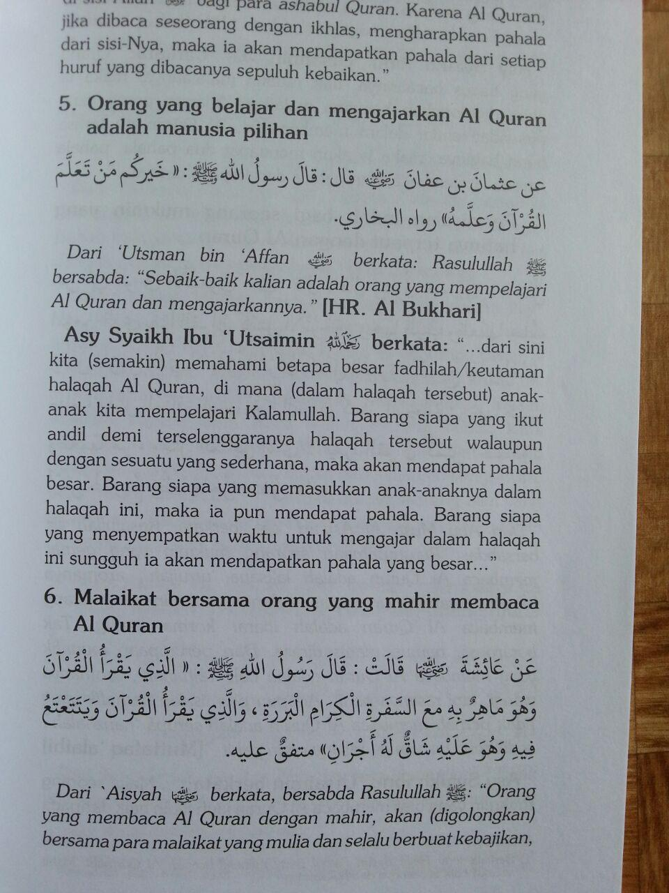 Buku Zadul Qori Bekal Membaca Kalam Ilahi isi