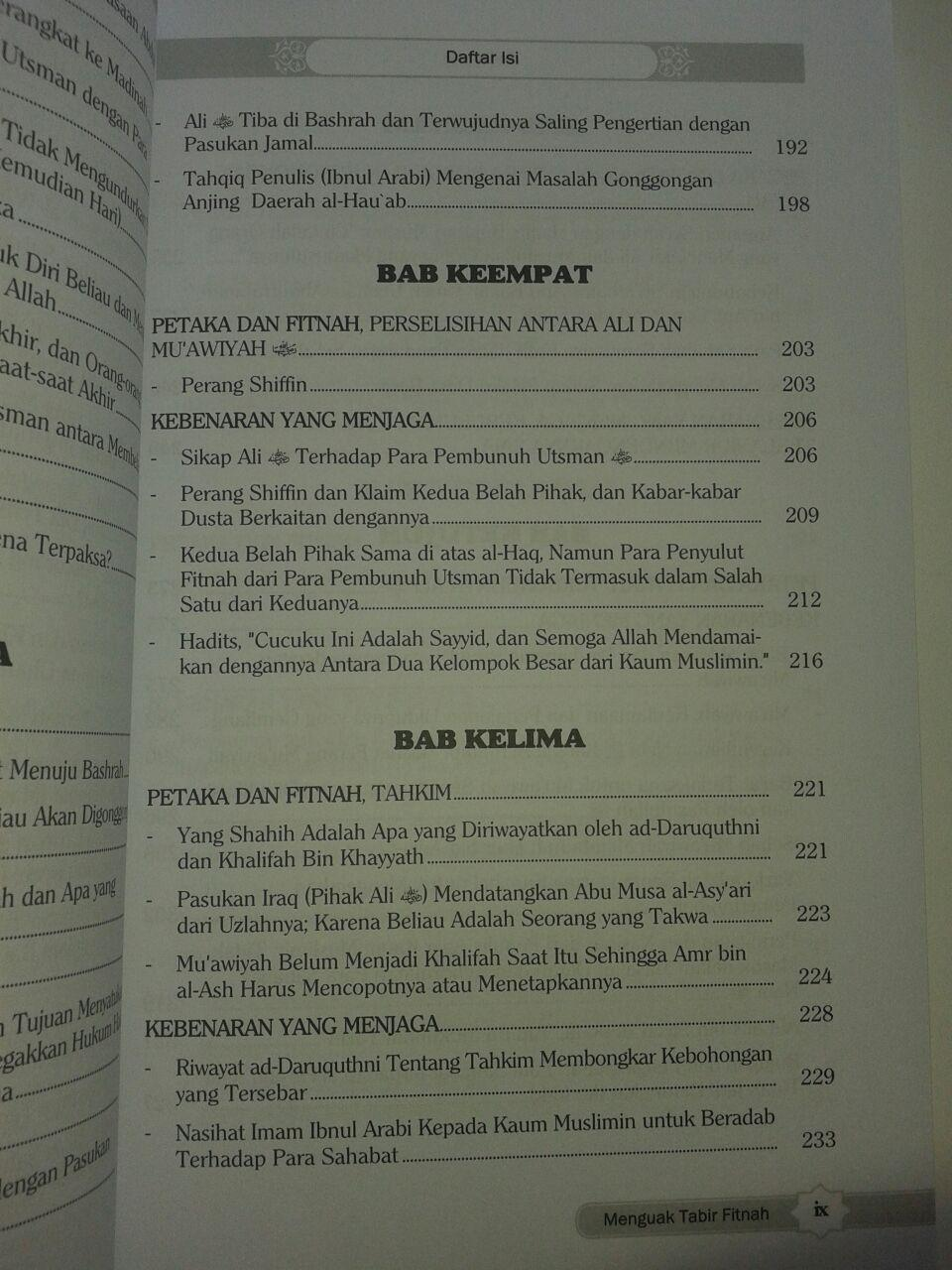 Buku Meluruskan Sejarah Menguak Tabir Fitnah isi 2